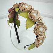 Украшения handmade. Livemaster - original item Bezel leather Flowers. Decoration for hair. Handmade.