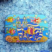 Украшения ручной работы. Ярмарка Мастеров - ручная работа Брошка Кот. Handmade.