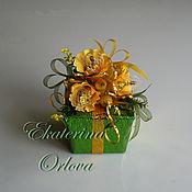 Цветы и флористика ручной работы. Ярмарка Мастеров - ручная работа Секрет (букет из конфет) зеленый. Handmade.