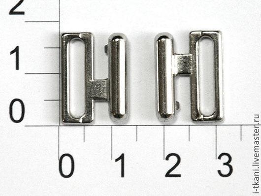 Застёжка. Металл. Цвет никель. Внутренний размер отверстия 15мм. Китай. Цена 25руб (за 2 половинки).
