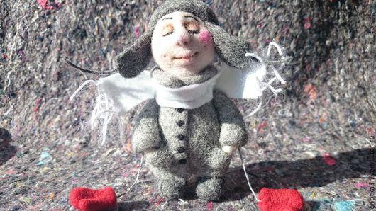 Коллекционные куклы ручной работы. Ярмарка Мастеров - ручная работа. Купить Зимний Ангел. Handmade. Ангел, фетр