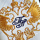 платок мужской носовой аксессуар с вышивкой хлопок подарок герб двуглавый орел