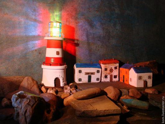 """Освещение ручной работы. Ярмарка Мастеров - ручная работа. Купить светильник """"маяк"""". Handmade. Маяк, разноцветное стекло"""