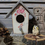 """Для дома и интерьера ручной работы. Ярмарка Мастеров - ручная работа Скворечник """" Птичий дом """". Handmade."""