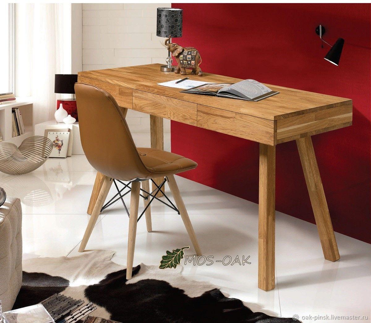 Стол письменный Modern-1 из массива дуба, бейц-масло, Столы, Пинск,  Фото №1