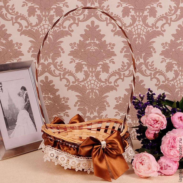 Корзина для подарков на свадьбе 59
