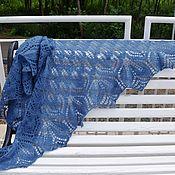 Shawls handmade. Livemaster - original item Shawl blue tracery of Haruni. Handmade.