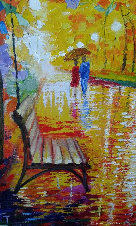 Картины: Осень в вечернем парке – купить на Ярмарке ...