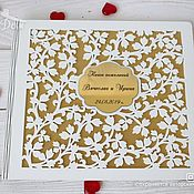 Свадебный салон handmade. Livemaster - original item Wooden wedding wish book. Handmade.