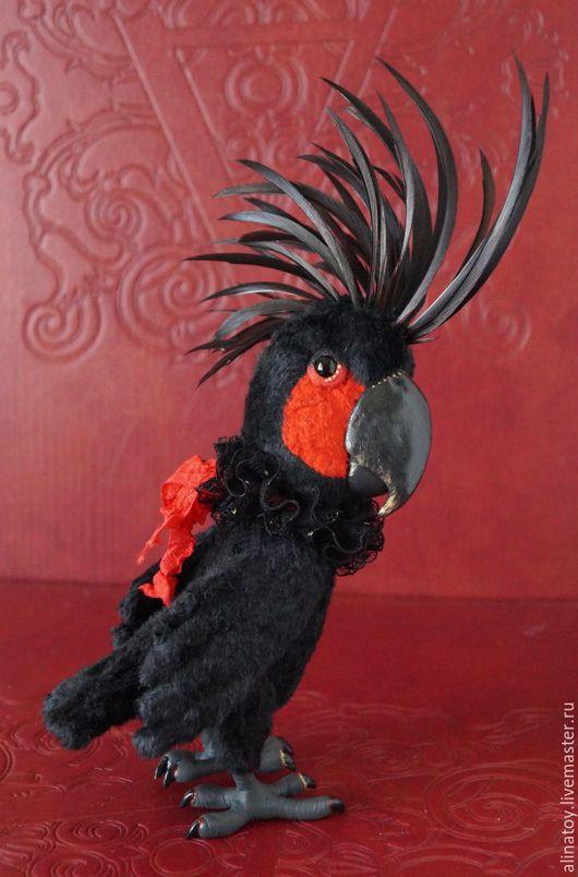 Куклы и игрушки ручной работы. Ярмарка Мастеров - ручная работа. Купить Блэк Кинг,   черный какаду попугай. Handmade.