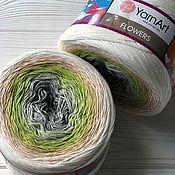 Пряжа ручной работы. Ярмарка Мастеров - ручная работа Пряжа: Yarn Art Flowers 274. Handmade.