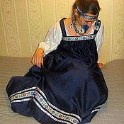 Одежда ручной работы. Ярмарка Мастеров - ручная работа Сарафан, рубаха, фольклорная одежда.. Handmade.
