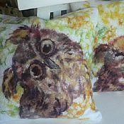 """Для дома и интерьера ручной работы. Ярмарка Мастеров - ручная работа """"Совы"""" комплект декоративных подушек. Handmade."""