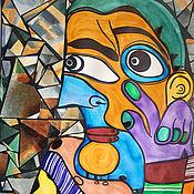 """Картины и панно ручной работы. Ярмарка Мастеров - ручная работа Картина """"Мой друг Пикассо"""". Современное искусство. Handmade."""