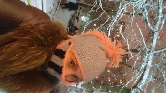"""Шапки ручной работы. Ярмарка Мастеров - ручная работа. Купить Вязаная шапка """"Шлем рыцаря """". Handmade. Комбинированный"""