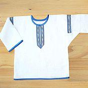 """Русский стиль ручной работы. Ярмарка Мастеров - ручная работа Рубашка """"Коляда"""" детская белая. Handmade."""