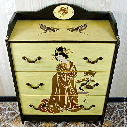 """Мебель ручной работы. Ярмарка Мастеров - ручная работа. Купить Комод """"Гейша"""". Handmade. Лимонный, прихожая, загородный дом"""