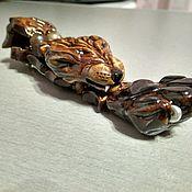 Сувениры и подарки ручной работы. Ярмарка Мастеров - ручная работа Чётки перекидные волк. Handmade.
