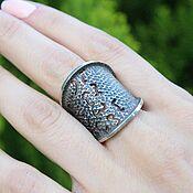 Украшения handmade. Livemaster - original item Abstract ring with original design made of 925 sterling silver VA0012. Handmade.