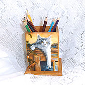 Канцелярские товары handmade. Livemaster - original item Pencil They`re waiting for us at home........ Handmade.
