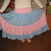 Одежда ручной работы. Ярмарка Мастеров - ручная работа распродажа Женская юбка  с краш-эффектом Полоски. Handmade.