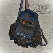 Рюкзаки ручной работы. Ярмарка Мастеров - ручная работа Джинсовый рюкзак 64. Handmade.