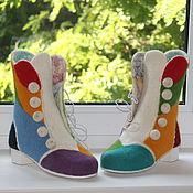"""Обувь ручной работы. Ярмарка Мастеров - ручная работа Валяные ботинки """"Алиса"""". Handmade."""