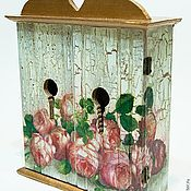 """Для дома и интерьера ручной работы. Ярмарка Мастеров - ручная работа Ключница """"Розовый рай"""". Handmade."""