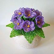 Цветы ручной работы. Ярмарка Мастеров - ручная работа Фиалка фиолетовая. Handmade.