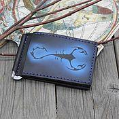Сумки и аксессуары handmade. Livemaster - original item Clip for bills with the zodiac sign Scorpio. Handmade.