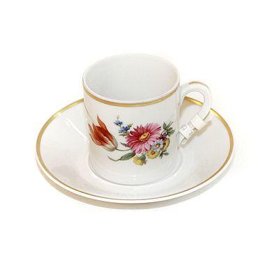 Винтаж ручной работы. Ярмарка Мастеров - ручная работа Антикварная чашка с блюдцем. Handmade.