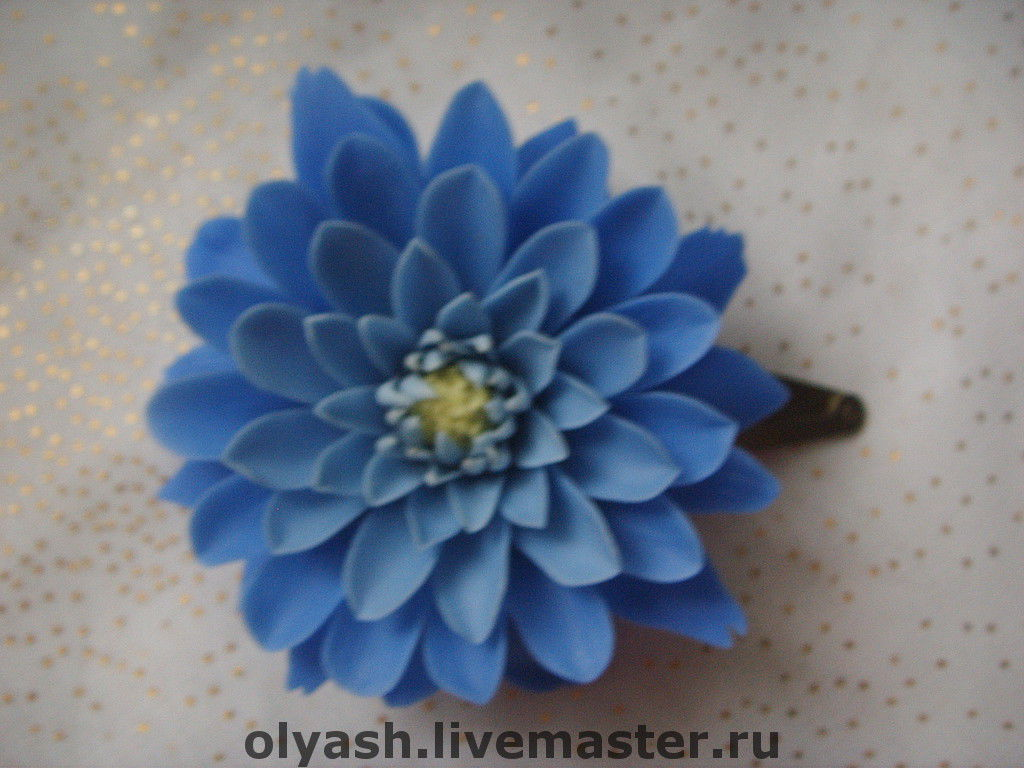 заколка с  хризантемой, Заколки, Щелково,  Фото №1
