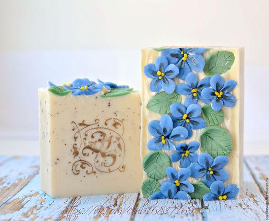 """Мыло ручной работы. Ярмарка Мастеров - ручная работа. Купить Натуральное мыло """"Синий лён"""". Handmade. Синий, без парабенов"""
