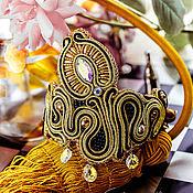 Украшения handmade. Livemaster - original item Soutache bracelet art Nouveau and Art Deco Soutache. Handmade.