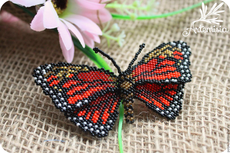 Как сделать бисер из бабочка 230