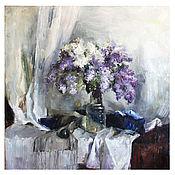 """Картины ручной работы. Ярмарка Мастеров - ручная работа Картины: Цветы """"Сирень"""" 50х 50 см (Фиолетовый, сиреневый). Handmade."""