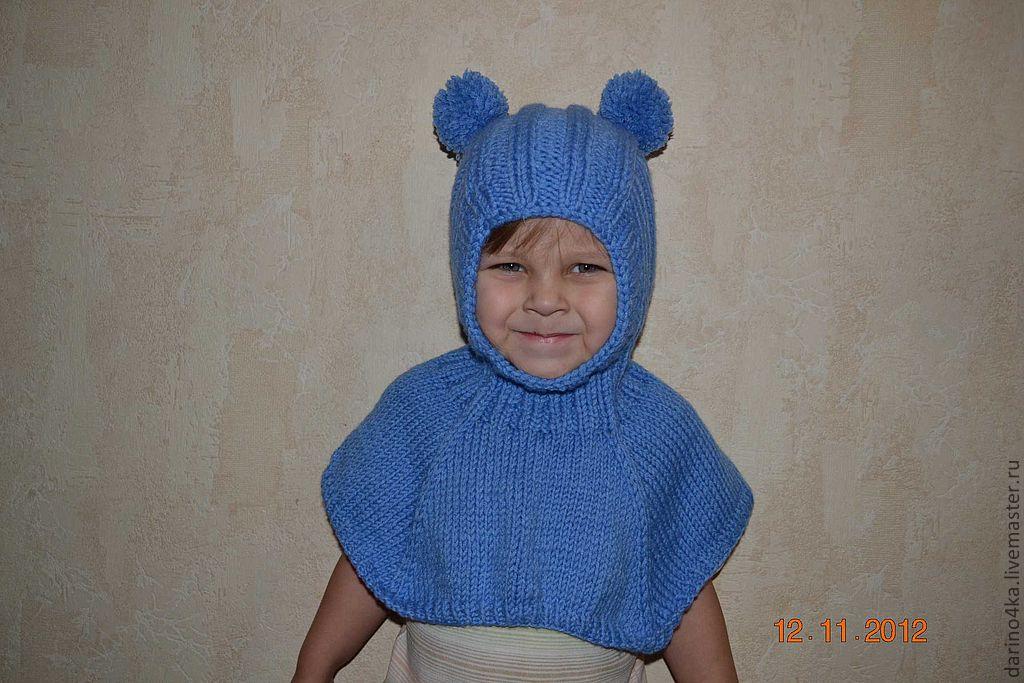Детский шлем связать манишка