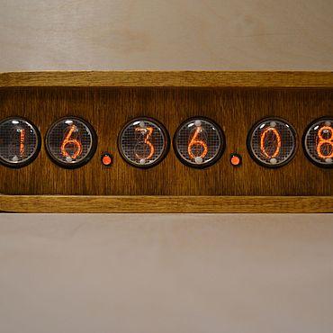 Для дома и интерьера ручной работы. Ярмарка Мастеров - ручная работа Ламповые часы на ИН-4 из березы. Handmade.