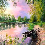 Картины и панно handmade. Livemaster - original item Oil painting Paisagem Tishina Vladimir Chernov. Handmade.