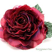 Украшения ручной работы. Ярмарка Мастеров - ручная работа Цветы из шёлка.Роза Николь(2 цвета). Handmade.