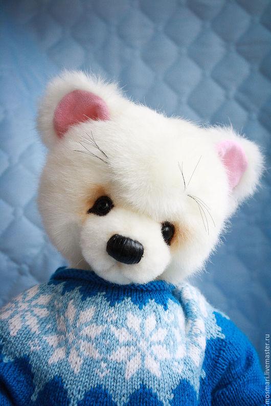 Мишки Тедди ручной работы. Ярмарка Мастеров - ручная работа. Купить Снежок (41 см). Handmade. Белый, тедди медведи
