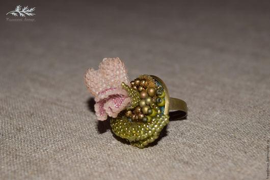 Кольца ручной работы. Ярмарка Мастеров - ручная работа. Купить Вышитые кольца с цветами. Handmade. Кольцо, вышитое кольцо