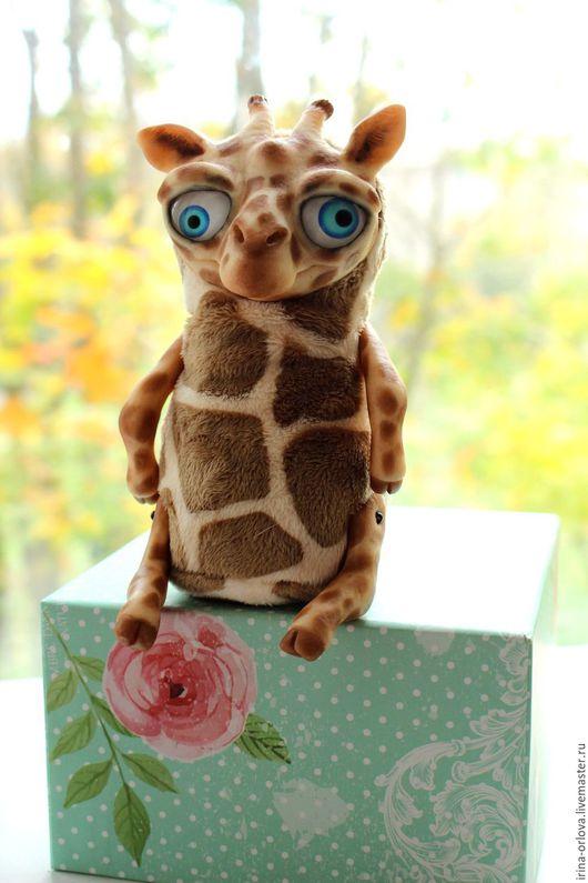 Куклы и игрушки ручной работы. Ярмарка Мастеров - ручная работа. Купить Плюшевый жираф Иван. Handmade. Комбинированный, мягкая игрушка