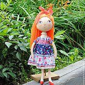 Куклы и игрушки ручной работы. Ярмарка Мастеров - ручная работа Кукла-тыквоголовка Рыжая. Handmade.