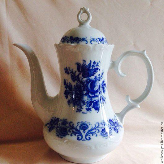 Винтажная посуда. Ярмарка Мастеров - ручная работа. Купить Чайник фарфоровый. Handmade. Комбинированный, фарфор