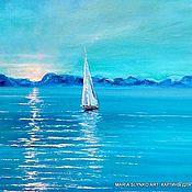 Картины и панно handmade. Livemaster - original item Oil painting. Sea. Dawn.. Handmade.