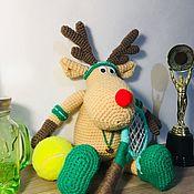 Мягкие игрушки ручной работы. Ярмарка Мастеров - ручная работа Лось теннисист. Handmade.