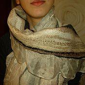 Аксессуары ручной работы. Ярмарка Мастеров - ручная работа Валяный шарф  Когда потекут ручьи. Handmade.