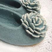 Обувь ручной работы. Ярмарка Мастеров - ручная работа тапочки Мята. Handmade.