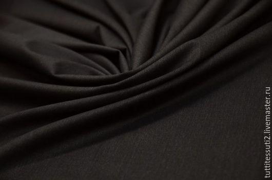Шитье ручной работы. Ярмарка Мастеров - ручная работа. Купить Костюмная ткань-диагональ  05-003-2423. Handmade. Черный